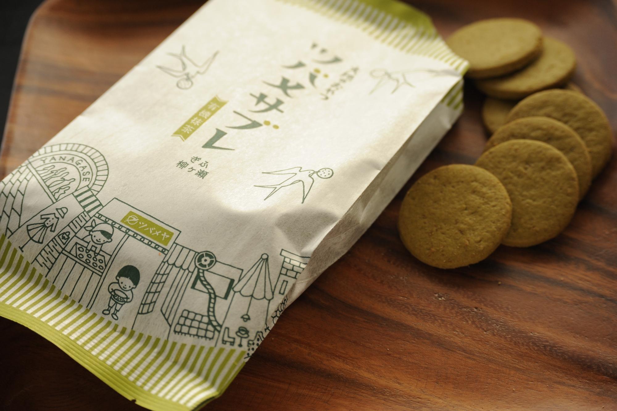 ツバメヤ×まっちん×山本佐太郎商店 大地のおやつ 「ツバメサブレ・有機抹茶」