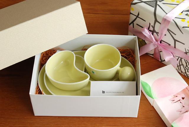 白山陶器 PiPi(ピピ) 子供食器4点セット