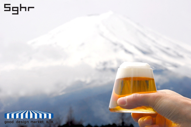 Sugahara Glass(スガハラガラス)  「富士山グラス」 桐箱入り